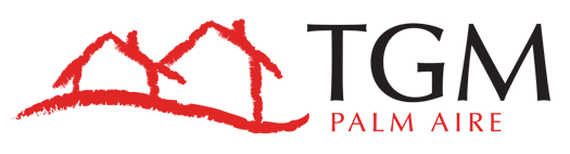 This image shows the logo of TGM Palm Aire in Sarasota, FL
